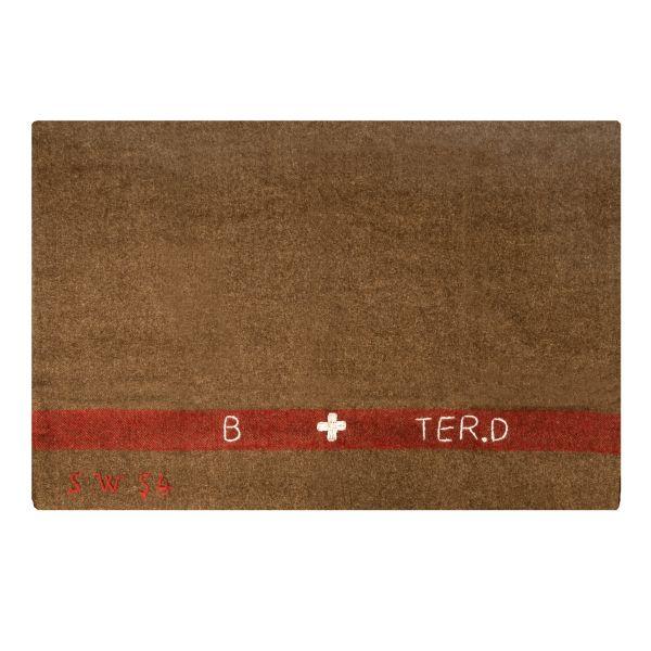 Réplique Couverture en laine Suisse marron