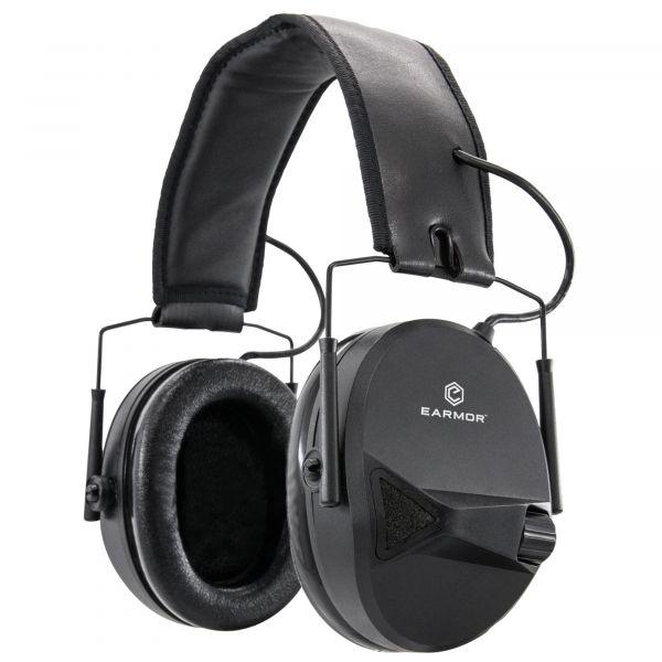 Earmor Casque anti-bruit électronique M30 NRR 24 noir