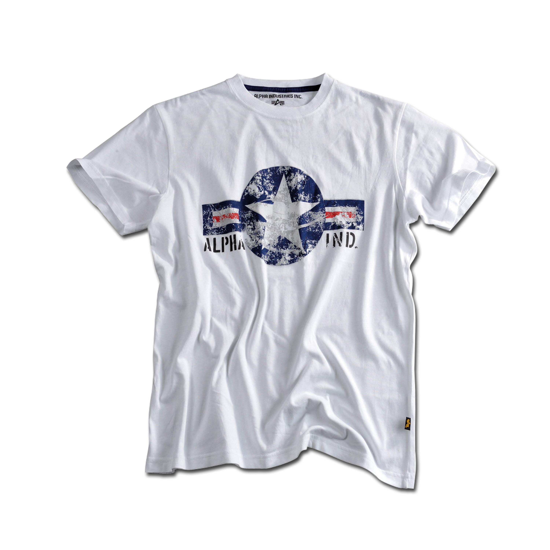 T-Shirt Alpha USAF blanc