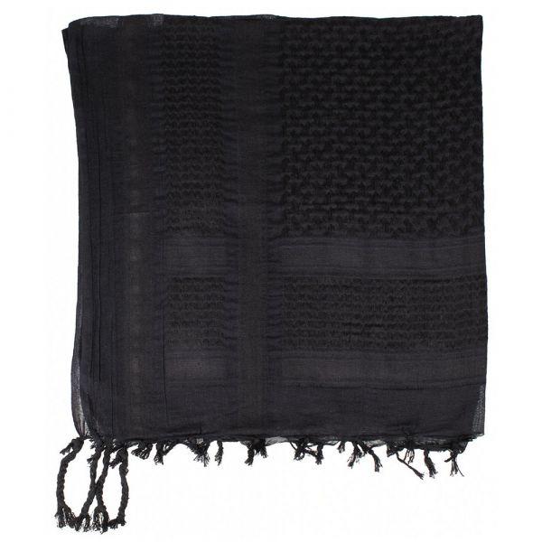 MFH Shemag PLO 110 x 110 cm tissu noir