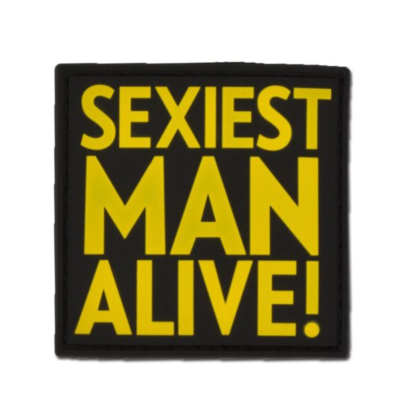 Patch 3 D SEXIEST MAN ALIVE fullcolor