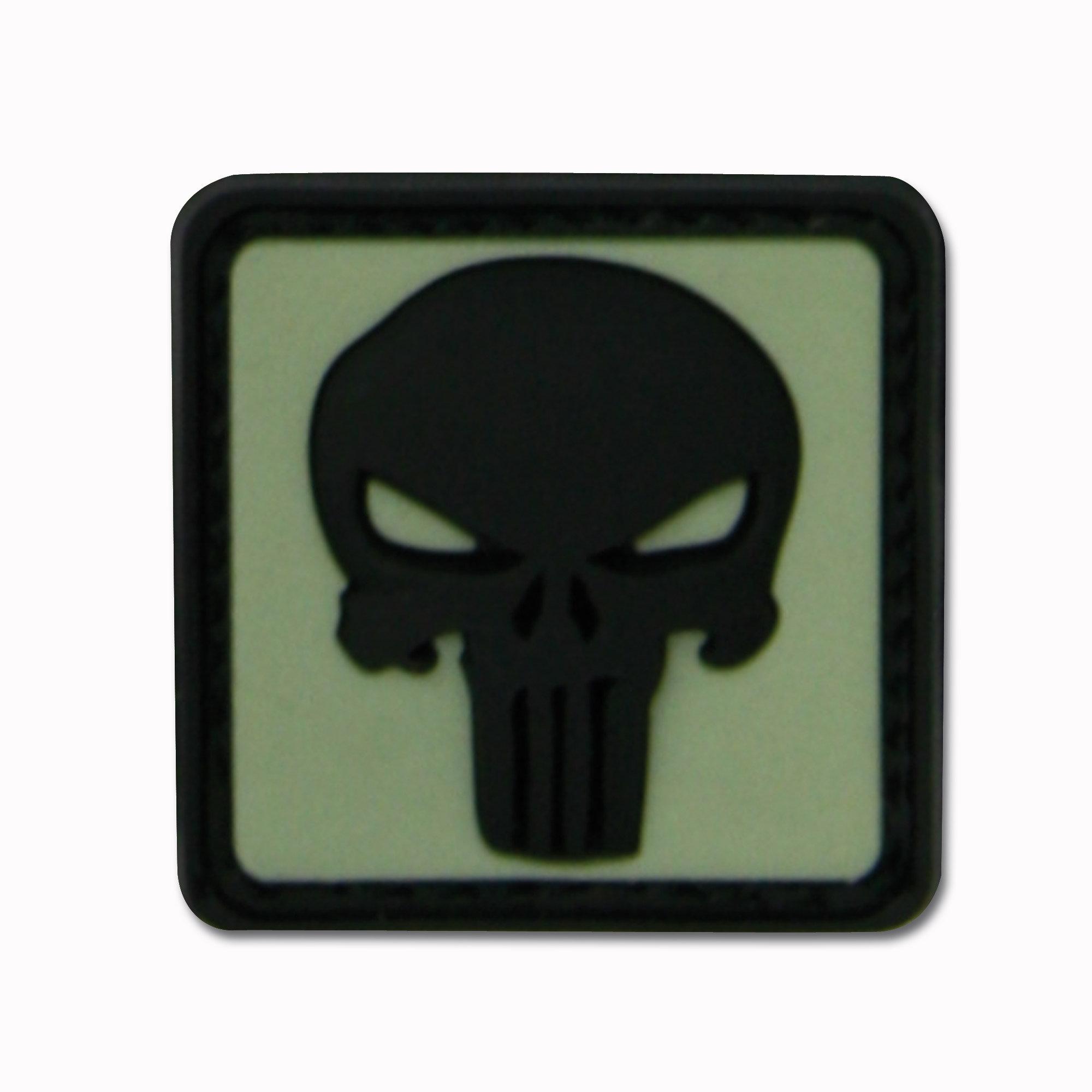 3D-Patch Punisher Skull luminescent inversé