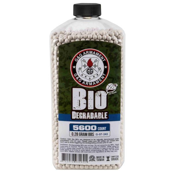 G&G Billes Airsoft Bio 6 mm 0.28 g 5600 pièces blanc