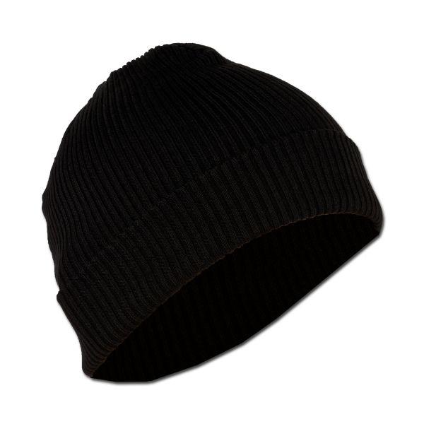 Bonnet tricoté BW coupe-vent noir occasion