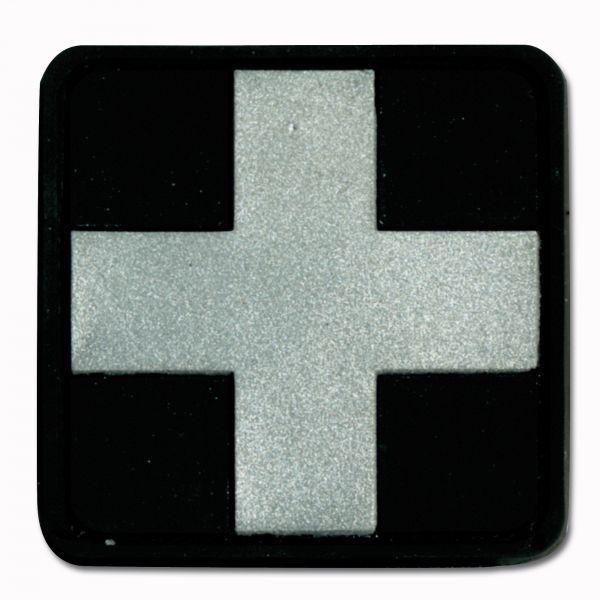 3D-Patch Red Cross Medic noir-argent