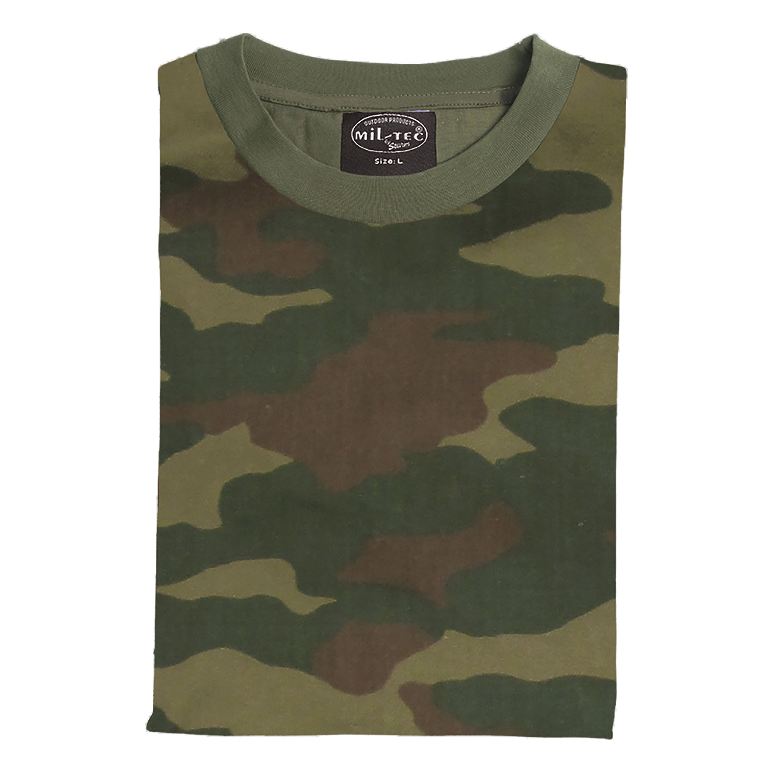 T-Shirt camouflage woodland russe