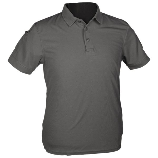 Mil-tec Polo Tactical Quickdry gris urbain