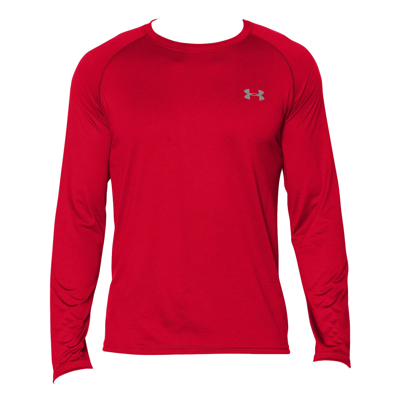 Shirt à manches longues Tech Tee Under Armour rouge