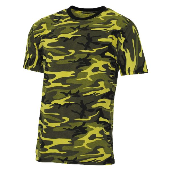 MFH T-Shirt US Streetstyle jaune-camo