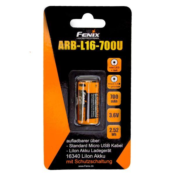 Fenix Batterie Li-ion 16340 ARB-L16-70