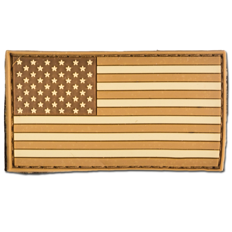 Patch drapeau USA coyote