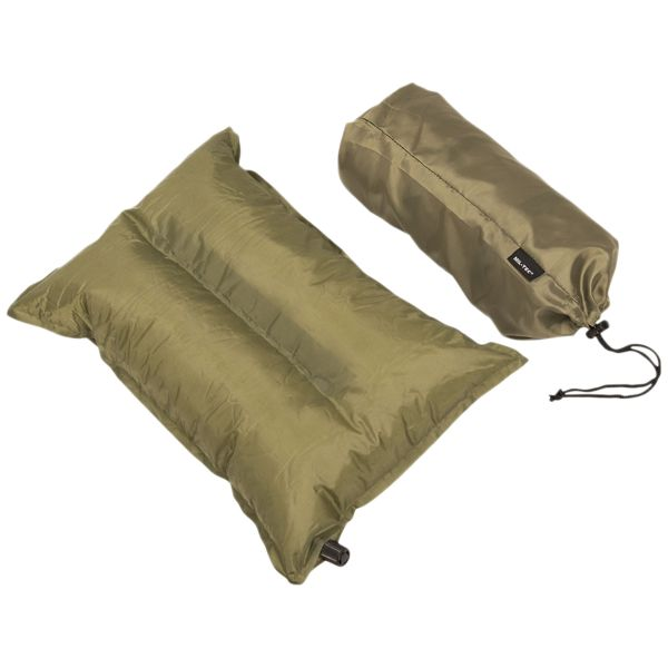 Coussin auto-gonflant vert olive