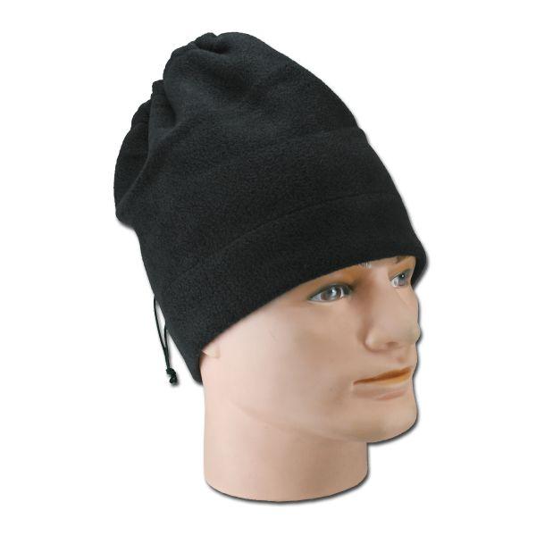 Tour de cou / bonnet polaire noir