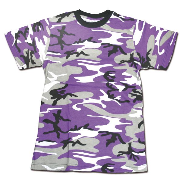 T-shirt MMB mauve-camouflage