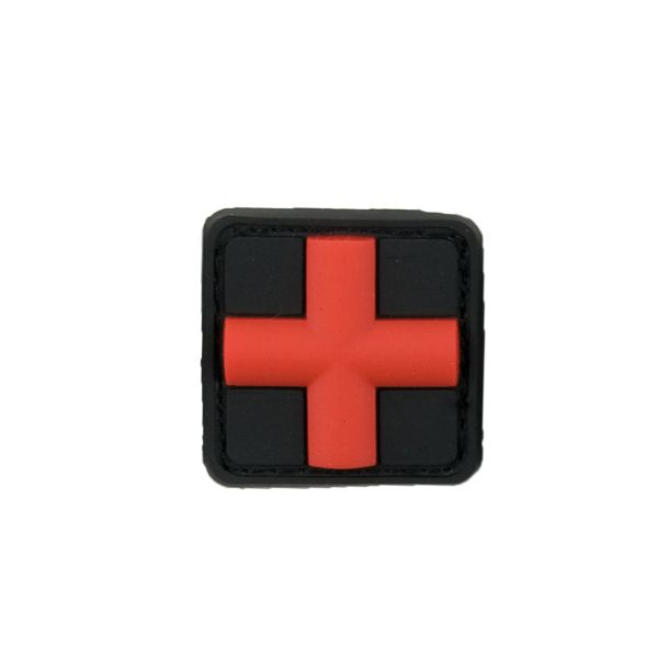 3D-Patch Red Cross Medic blackmedic 25 mm