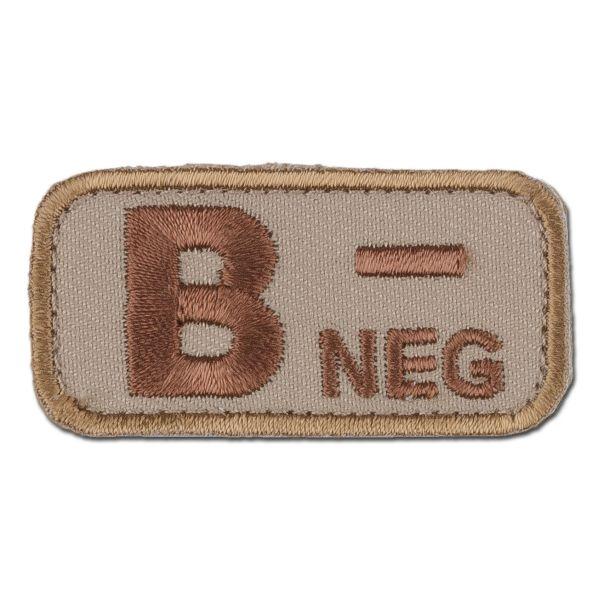 MilSpecMonkey Patch Groupe Sanguin B Neg desert