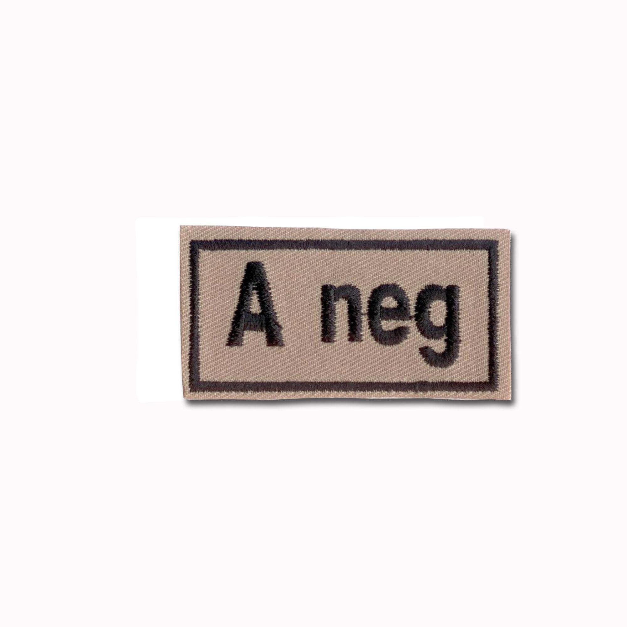Insigne Groupe sanguin A neg beige