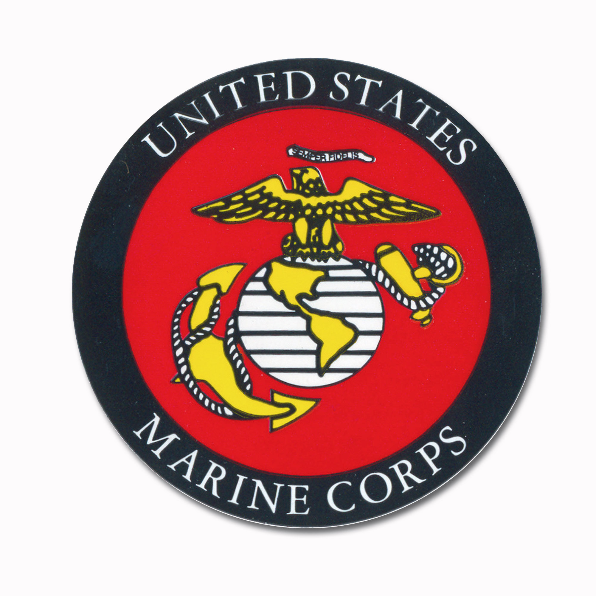 Autocollant Marine Corps rond