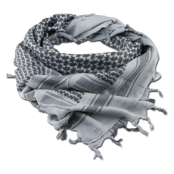 Écharpe 'Shemagh' gris / noir 110 x 110 cm