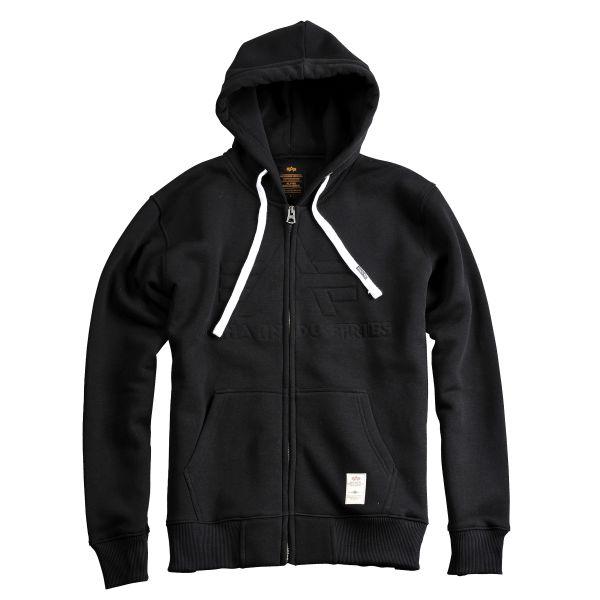 Sweatshirt à capuche Alpha Industries 3D Zip noir
