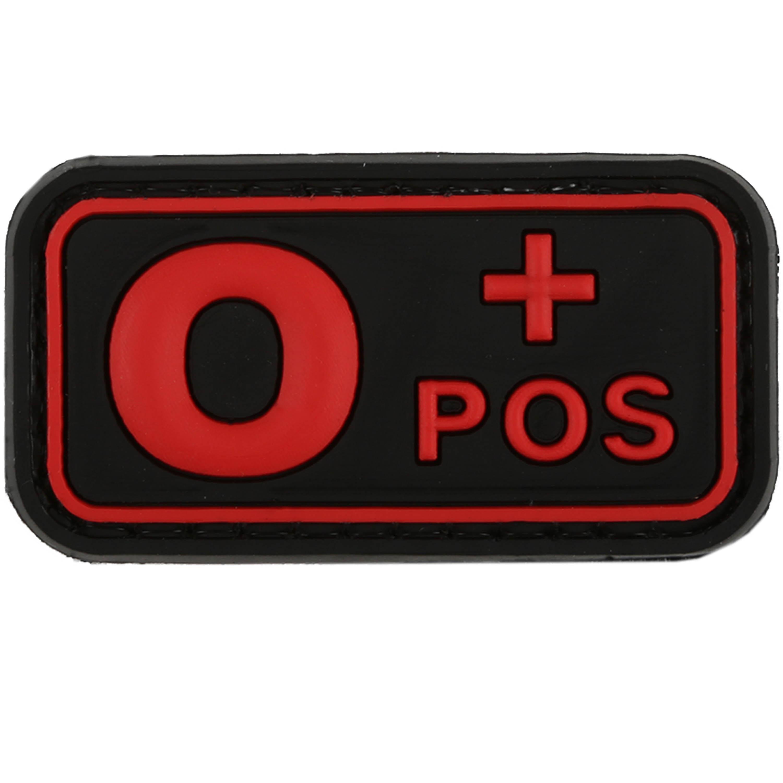 Patch 3D groupe sanguin 0 Pos TAP blackmedic