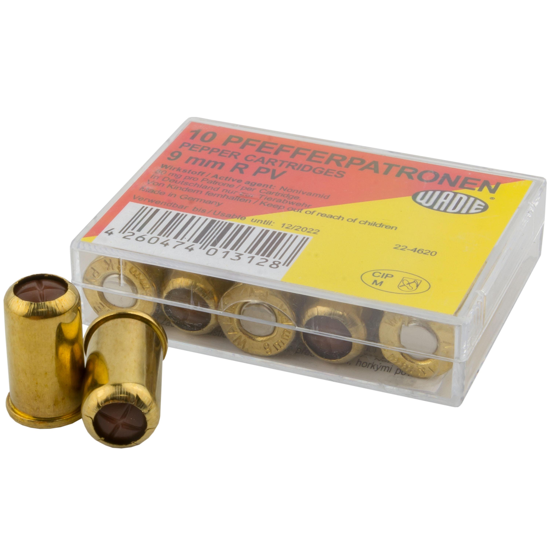 Cartouches au poivre Wadie PV 9 mm Revolver 10 pièces