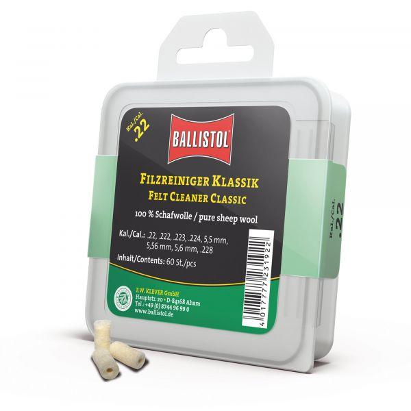 Ballistol Tampon de nettoyage Feutre Classique Cal. .22 60 Pcs