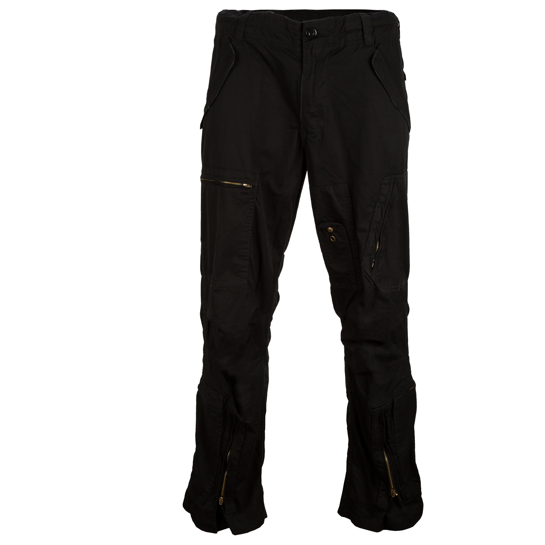 Pantalon pilote Mil-Tec pré-lavé noir