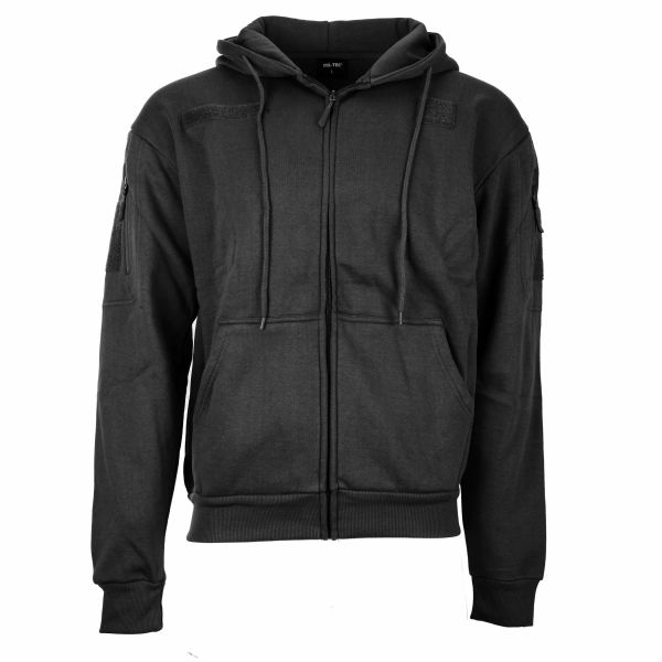 Mil-Tec Veste à capuche Tactical noir