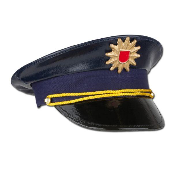 Casquette police allemande pour enfants bleue