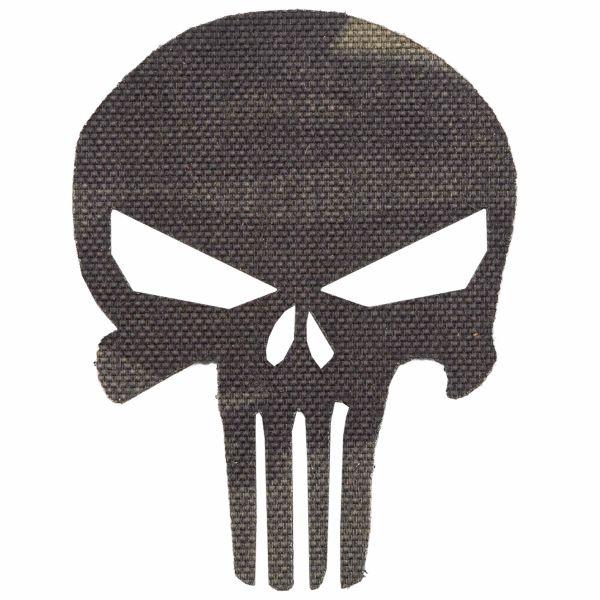 LaserPatch Patch Laser Cut IR Punisher multicam black