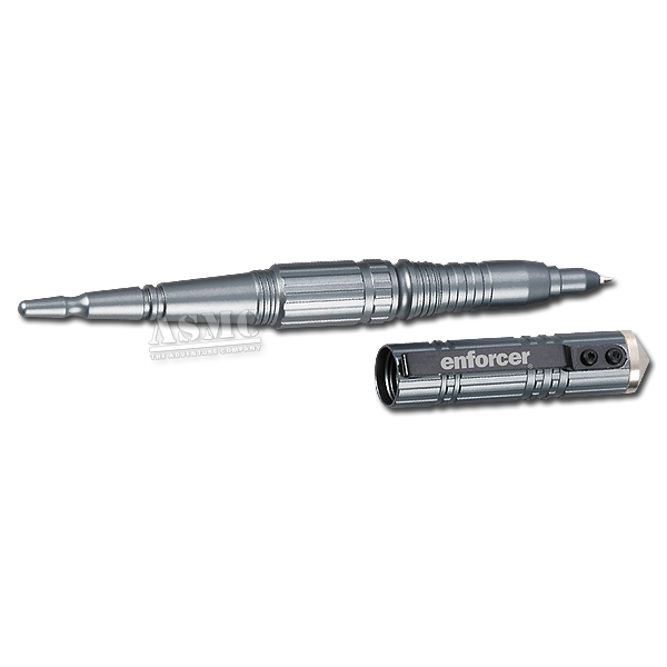 Stylo Enforcer Tactical Pen I avec brise-verre argent