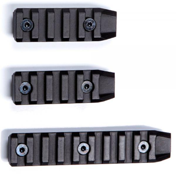 ASG Kit de 3 rails Keymod court noir