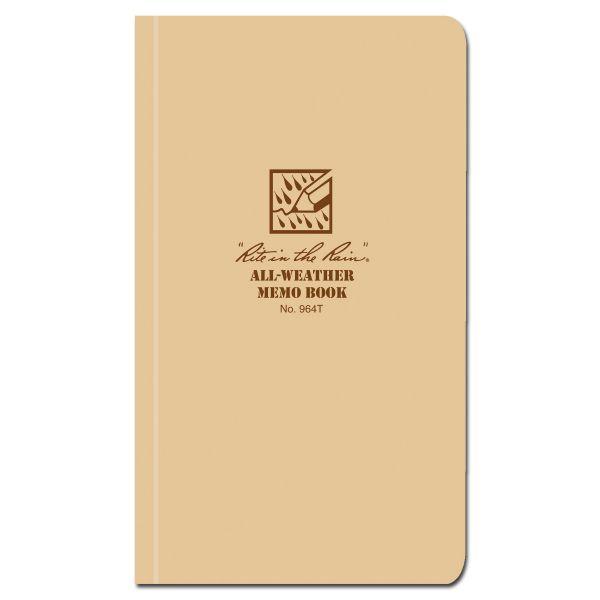 Rite in the Rain Tactical Memo Book 964T tan