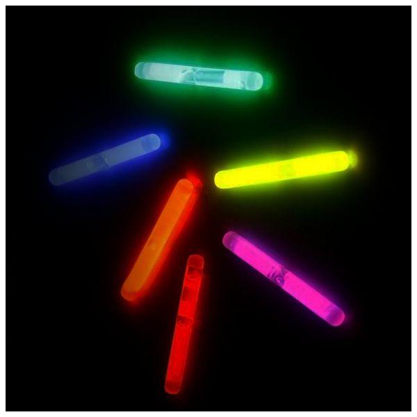 KNIXS Bâton lumineux Micro lot de 50 mélange de 6 couleurs