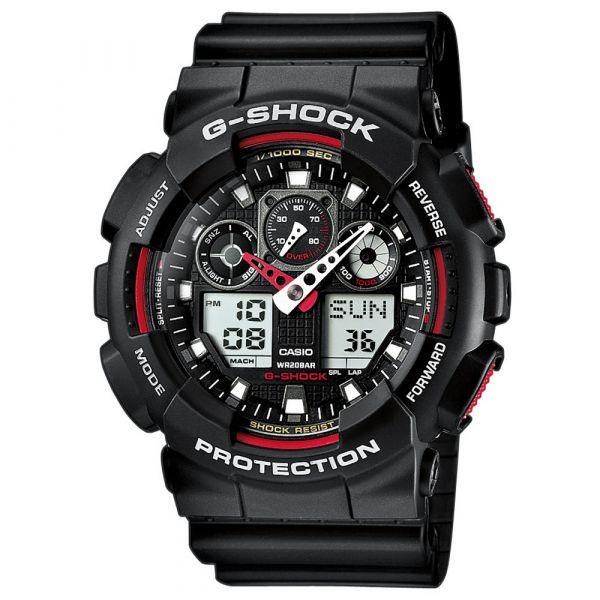 Casio Montre G-Shock Classic GA-100-1A4ER noir rouge