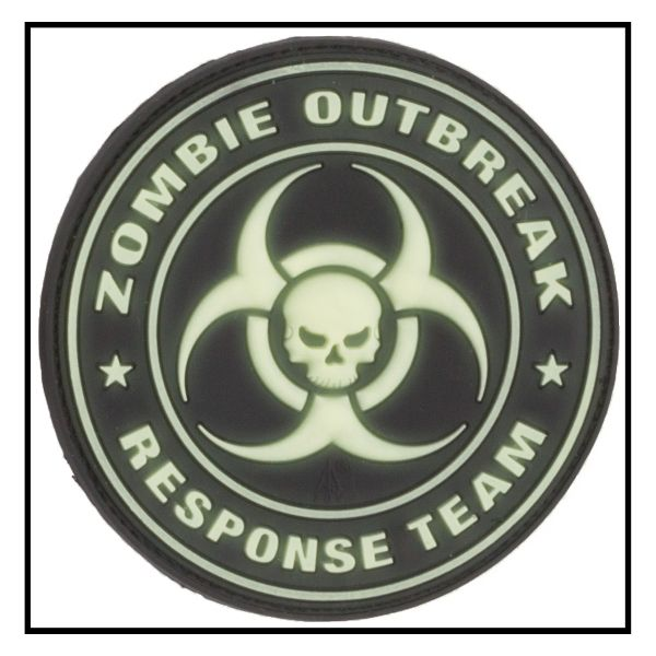 Patch 3D Zombie Outbreak Response Team luminescent