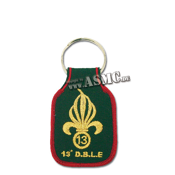 Porte-clefs brodé Légion Étrangère 13e DBLE