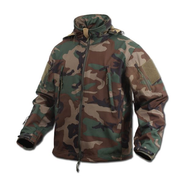 Veste Rothco Special Ops Soft Shell woodland