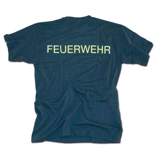 T-Shirt Feuerwehr bleu-jaune