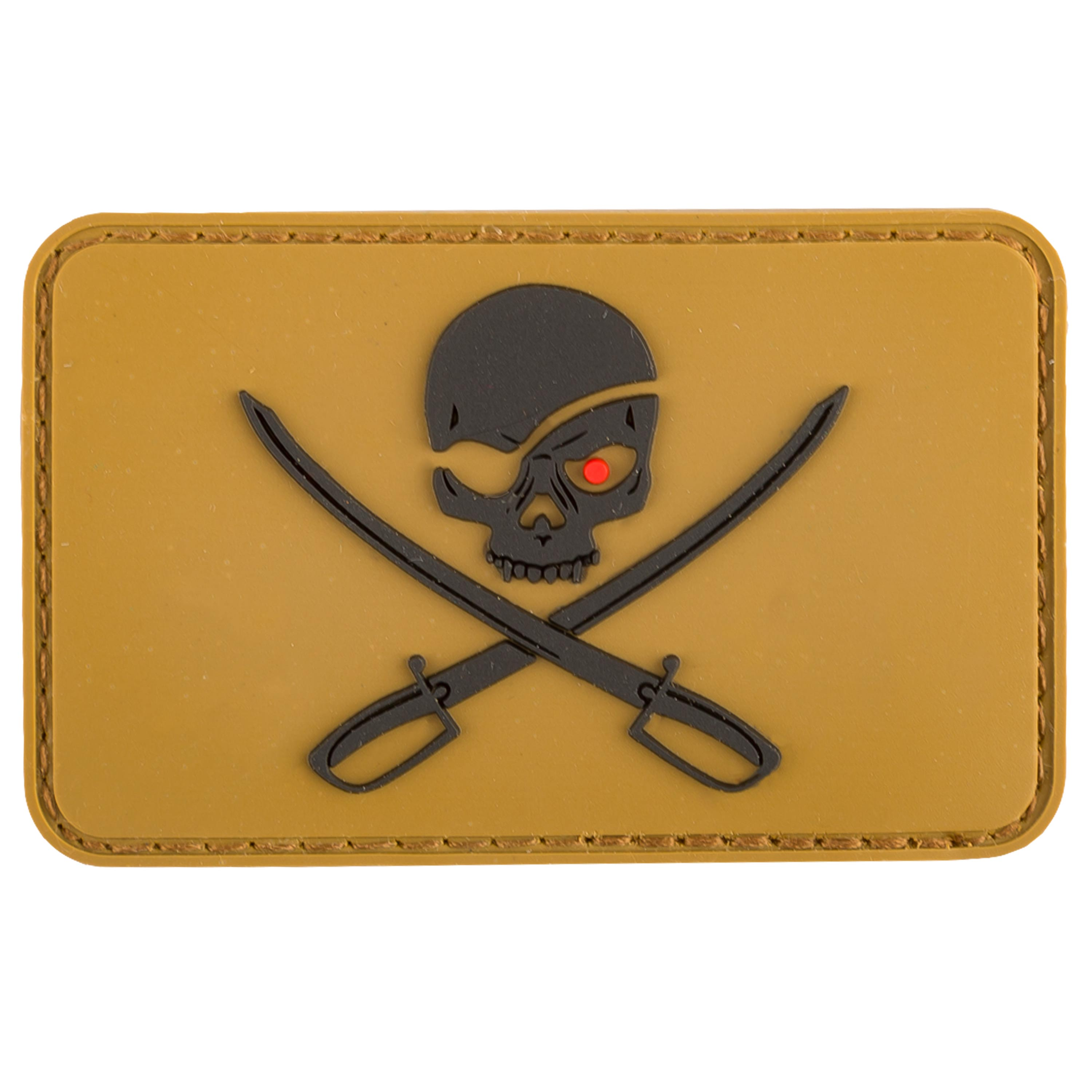 MFH Patch 3D Skull with Swords coyote