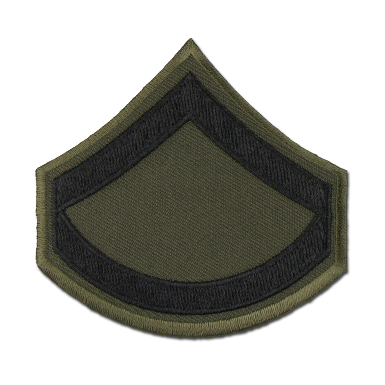 Grade US Private First Class tissu noir