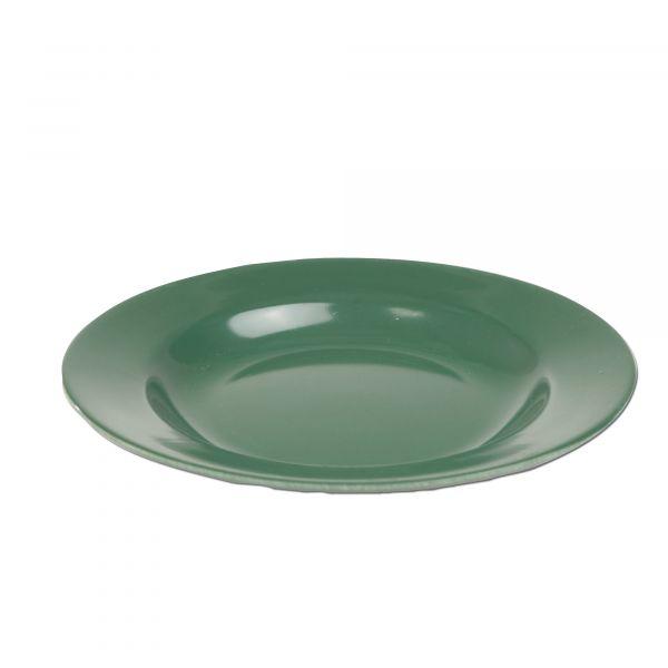 Assiette plastique olive