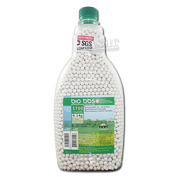 Billes Airsoft biodégradable 6 mm 5000 pcs 0,24 g