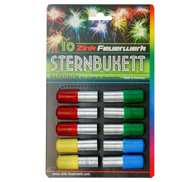 Zink Cartouches Feux d'artifice Sternbukett 15 mm 10 pièces