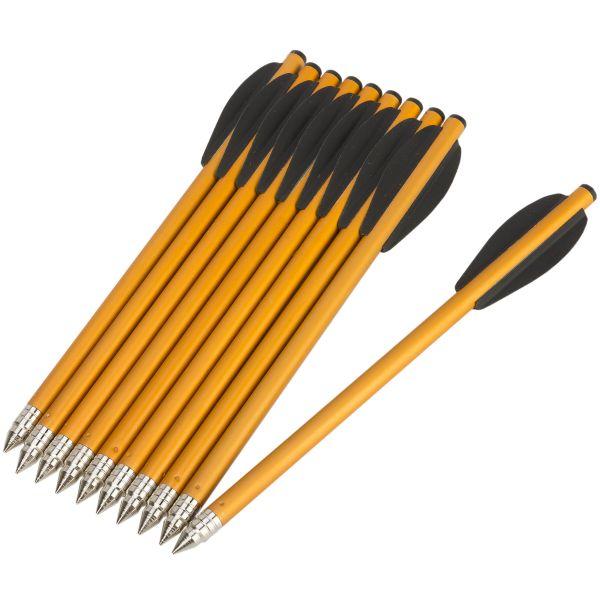 Trait en Aluminium EK Archery 6,5 pouces lot de 10 noir
