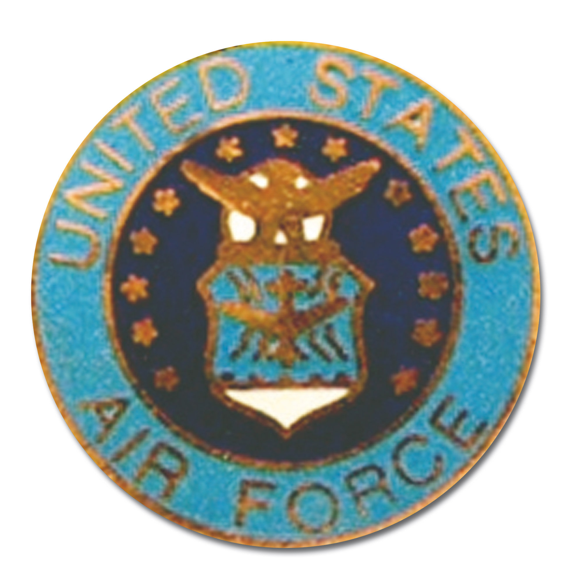 Pins Mini US Air Force rond