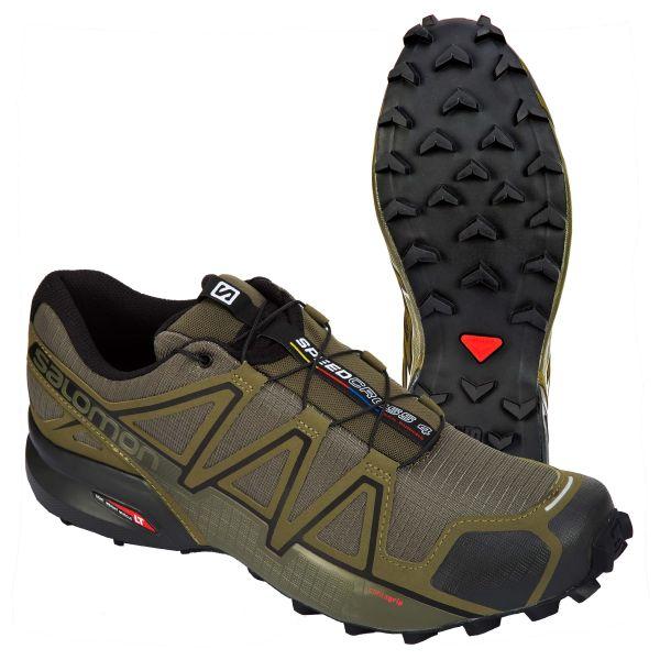Salomon Chaussures Speedcross 4 Wide olive noir