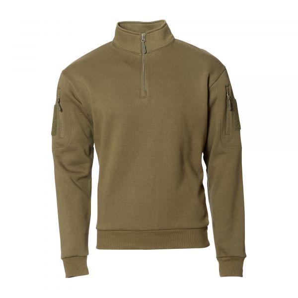 Mil-Tec Sweat-shirt Tactical avec fermeture éclair ranger green