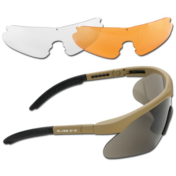 Lunettes de protection Swiss Eye Raptor coyote